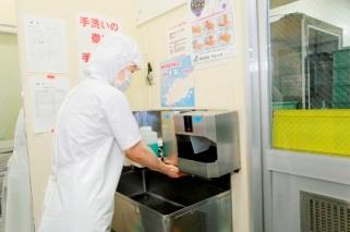 カウントダウン方式手洗い消毒